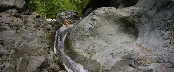 Video: 35-Foot-High Natural Waterfall Slide